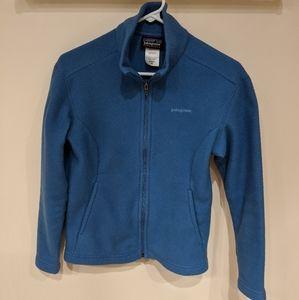 Patagonia zip up blue fleece.